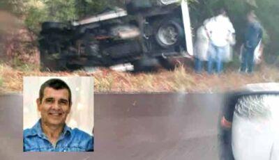 Oficial da PM morre após veículo capotar MS-080 próximo de Rochedo