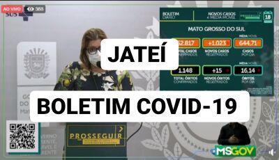Jateí confirma mais 05 casos de coronavírus nas últimas 24h, confira o boletim
