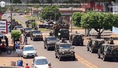 VÍDEO: Exército Brasileiro emociona a todos ao passar pela Avenida em Fátima do Sul
