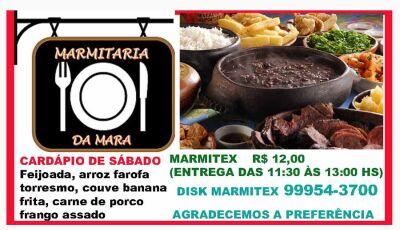 Deliciosa comida caseira é na Marmitaria da Mara em Fátima do Sul