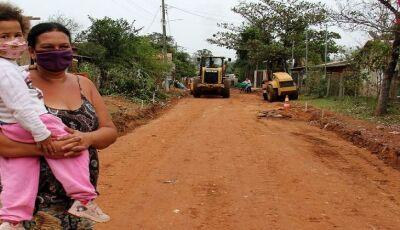 Governo Presente leva infraestrutura em três bairros e controla erosão em Miranda