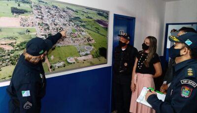 Comandante da Polícia Militar apresenta sistema de monitoramento por câmeras para a cidade de Jateí