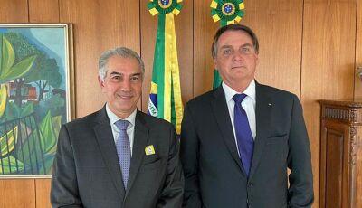 Reinaldo pede recursos para melhorar combate a incêndios no Pantanal e relicitação da Malha Oeste