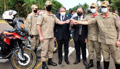 Governo do Estado entrega 20 motos BMW para a PM e o Corpo de Bombeiros Militar