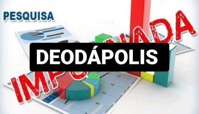 MAIS UMA: 3ª pesquisa em que atual prefeito aparece em 1º é impugnada em Deodápolis