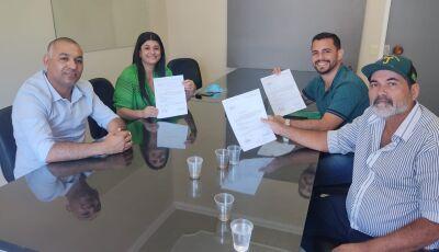 Fabinho e Laurindo, ambos recém eleitos, firmam parceria com deputada em emendas para Culturama