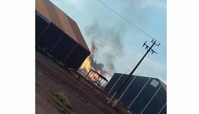 Usina Passa Tempo pega fogo em Rio Brilhante