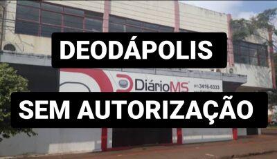 Diário MS afirmou que não autorizou uso de logomarca em postagem de Valdir Sartor em Deodápolis