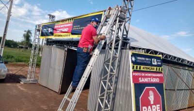 Saúde recupera tenda da barreira sanitária para vigilância continuar em Jateí