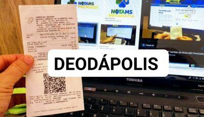 Deodápolis também teve ganhador do Nota MS Premiada, confira aqui se foi você