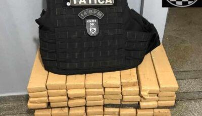 Força Tática de Fátima do Sul apreende mais de 100 quilos de maconha