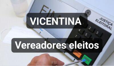 Com 100% apuradas, confira os vereadores eleitos em Vicentina
