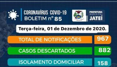 JATEÍ EM ALERTA: Mais 07 casos são confirmados nas últimas 24h, confira o boletim