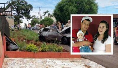 Veículo S-10 em alta velocidade colide com Fiat Uno matando criança e seus pais