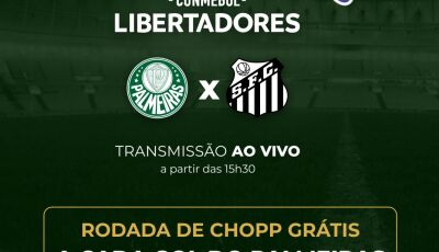 A cada gol do Palmeiras terá rodada grátis de chopp no Julifran Restaurante em Fátima do Sul