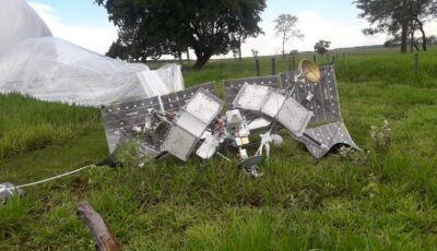 Balão satélite pousa em fazenda no interior de MS, segundo em menos de uma semana