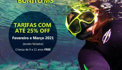 O melhor do verão acontece em Bonito (MS), ainda mais com TARIFAS REDUZIDAS, confira