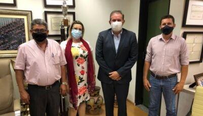 Deputado estadual Eduardo Rocha recebe a visita de três vereadores de Costa Rica