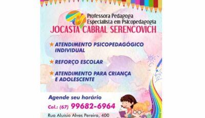Agora em Fátima do Sul especialista em Psicopedagogia com atendimento para criança e adolescente