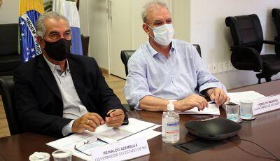 Reinaldo Azambuja reafirma compromisso com transparência na divulgação do calendário de vacinaç