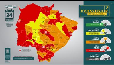Prosseguir: MS tem 31 municípios na bandeira vermelha, incluindo Fátima do Sul