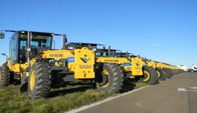 Pequenos produtores de 16 municípios serão beneficiados com a entrega de mais 28 motoniveladoras