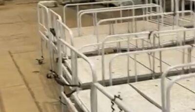 SES desmente fake news e esclarece vídeo de camas hospitalares guardadas no Albano Franco