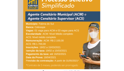 Inscrições abertas para o processo seletivo, veja quantas vagas tem para Fátima do Sul
