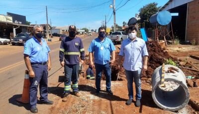Vicentina recebe investimento que vai atender Hospital Municipal e toda Avenida Padre José Daniel
