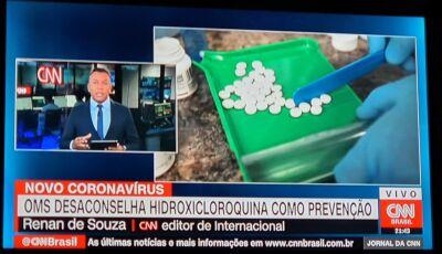 OMS: Hidroxicloroquina não funciona contra Covid-19 e pode causar efeito adverso