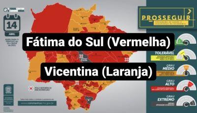Fátima do Sul na bandeira vermelha e Vicentina passa para Laranja e ganha novo TOQUE DE RECOLHER