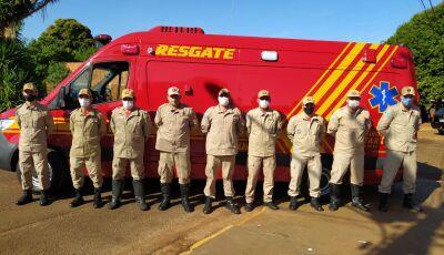 Bombeiros comemoram chegada de nova Unidade de Resgate em Fátima do Sul
