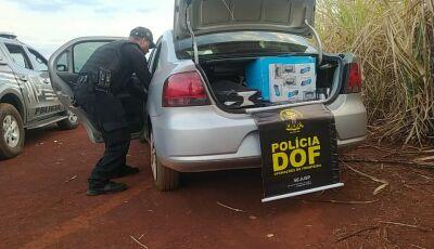 Mais de 50 mil reais em contrabando é apreendido em veículo com placas de Deodápolis
