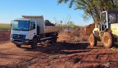 Agesul retira mais de 800 toneladas de lixo das margens da MS-156 em Dourados