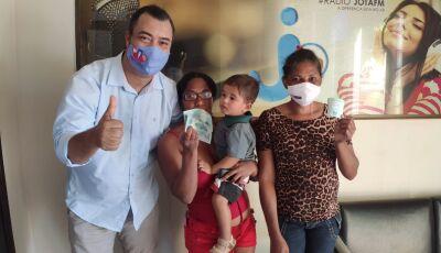 Garotinha de 03 anos é atendida pela rede da Solidariedade da Jota FM 101.3 de Deodápolis