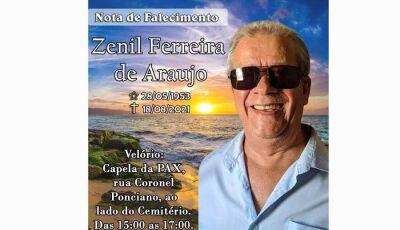 Aos 68 anos Jornalista Zenil Ferreira morre de doença degenerativa em Dourados