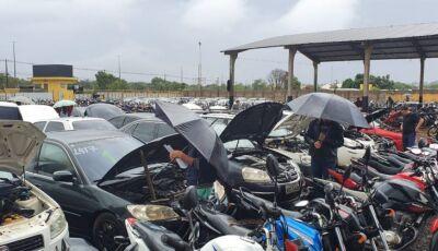 Leilão com mais 149 motocicletas e 72 automóveis para desmontagem e sucata, veja como participar