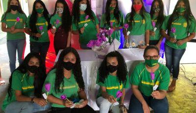 Agosto Lilás: Escola do Campo realiza ação de conscientização, veja fotos em Vicentina