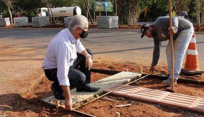 Com trabalhos a todo vapor, governador vistoria obra de revitalização do Parque dos Poderes