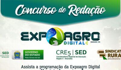 Concurso de redação da Expoagro Digital premiará alunos do ensino médio, veja como participar