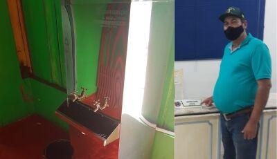 CULTURAMA: Bebedor de água na sub-prefeitura foi solicitação do vereador Barba que agradece