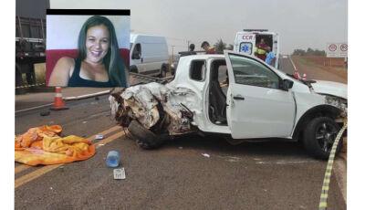 Mulher de 50 anos morre após acidente na rodovia BR-163 em Rio Brilhante