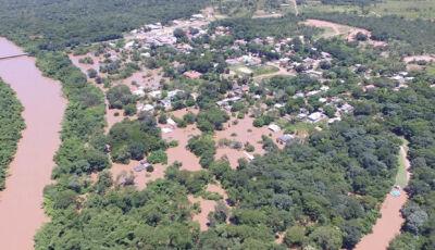 Rio Miranda recua 2 metros em distrito de Bonito e doações ajudam famílias na volta para casa
