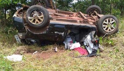 Pneu estoura, mulher perde controle e colide em veículo na rodovia BR-262
