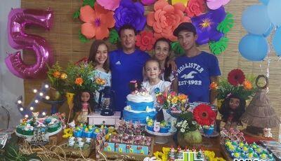 Veja as FOTOS do aniversário de 05 aninhos da Eduarda Sanches em Fátima do Sul