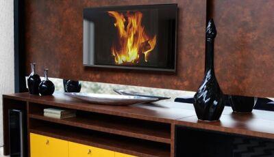 Italínea destaca móveis em tons terrosos e quentes para aumentar a sensação de conforto, em Dourados