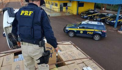 Homem é preso com 450 mil maços de cigarros e caminhão roubado