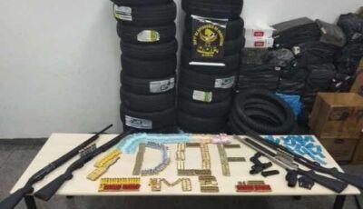 DEODÁPOLIS: DOF faz grande apreensão de armas e munições contrabandeadas do Paraguai