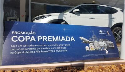 Concorra a um IX35, viagem para Copa e outros prêmios, faça um test-drive na Tass Motors em Dourados
