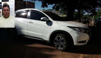 Homem é preso conduzindo carro roubado no RJ com destino a Caarapó